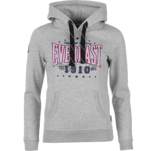 Grigio Uk12 Womens consegna gratuita Nuova Taglia Hoodie Top Logo 2669194253906 Marl Everlast Sqx6ZFZn