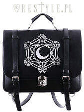 RESTYLE MOON PUNK ALCHEMICAL SYMBOLS EMO MESSENGER SATCHEL BAG PURSE HANDBAG