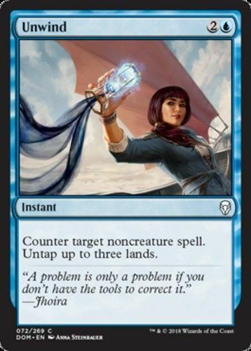 Dominaria mtg C 4x x4 4 Unwind M-NM SPARROW MAGIC