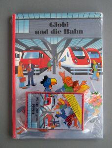 Globi-und-die-Bahn-Buch-und-Hoerspiel-Cassette-ovp-Sammlerstueck-MC-amp-Buch