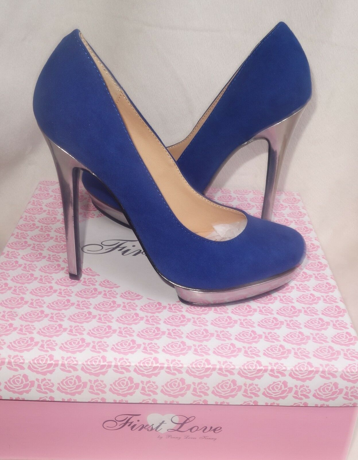 Firts Love By Penny Loves Kenny Royal Blue Pumps Size 6.5 new