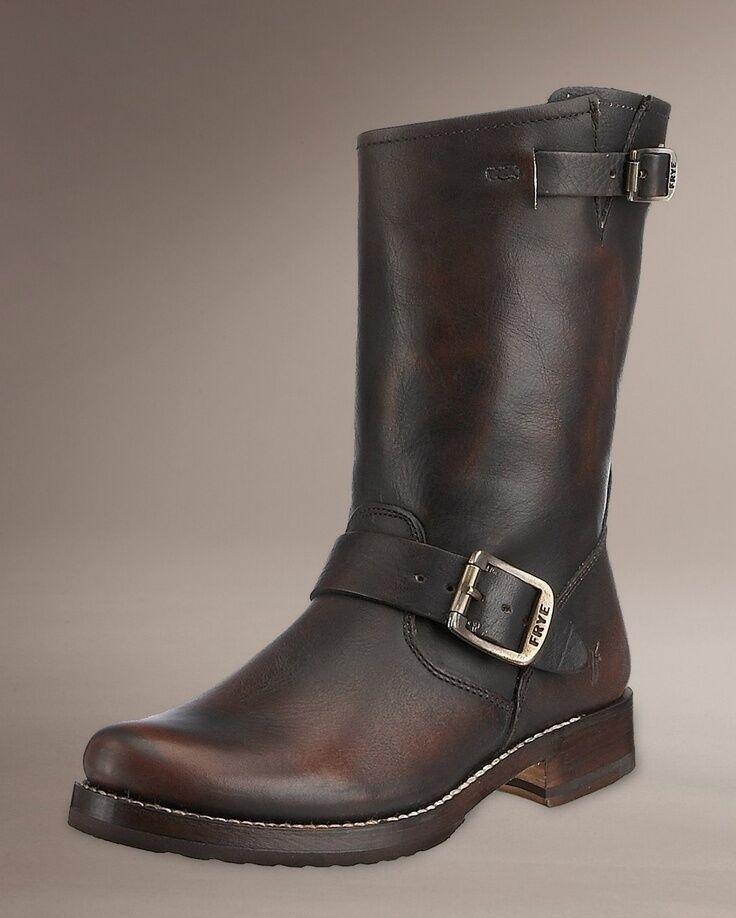 FRYE chaussures VERONICA SHORTIE bottes BRUSH OFF DARK marron LEATHER NEW 77511 8