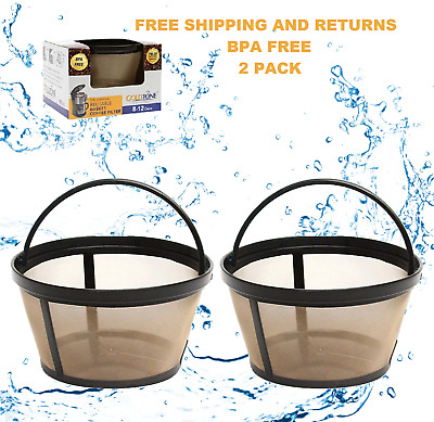 GoldTone Reusable 8-12 Cup Basket Coffee Filters for Cuisinart Coffee Makers 2