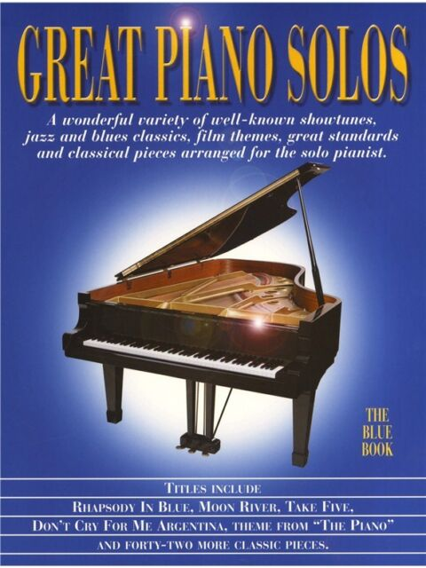 Great Piano Solos - The Blue Book by Music Sales Ltd (Paperback, 2000)