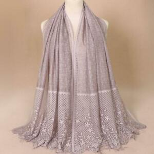 Women-Hollow-Flower-Long-Muslim-Hijab-Pashmina-Shawl-Scarves-Stole-Wrap-New