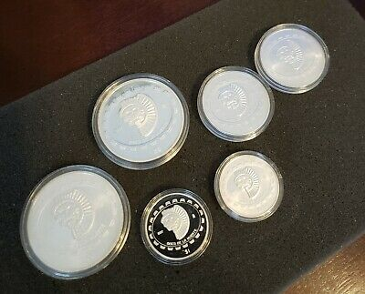 1997 $5 Disco De La Muerte Disc Of Death .999 1 Ounce Silver Proof 1800 Minted