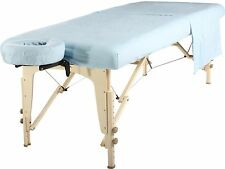Mt Universal Massage Table Natural Cotton Flannel Sheet set 3 piece Sky Blue