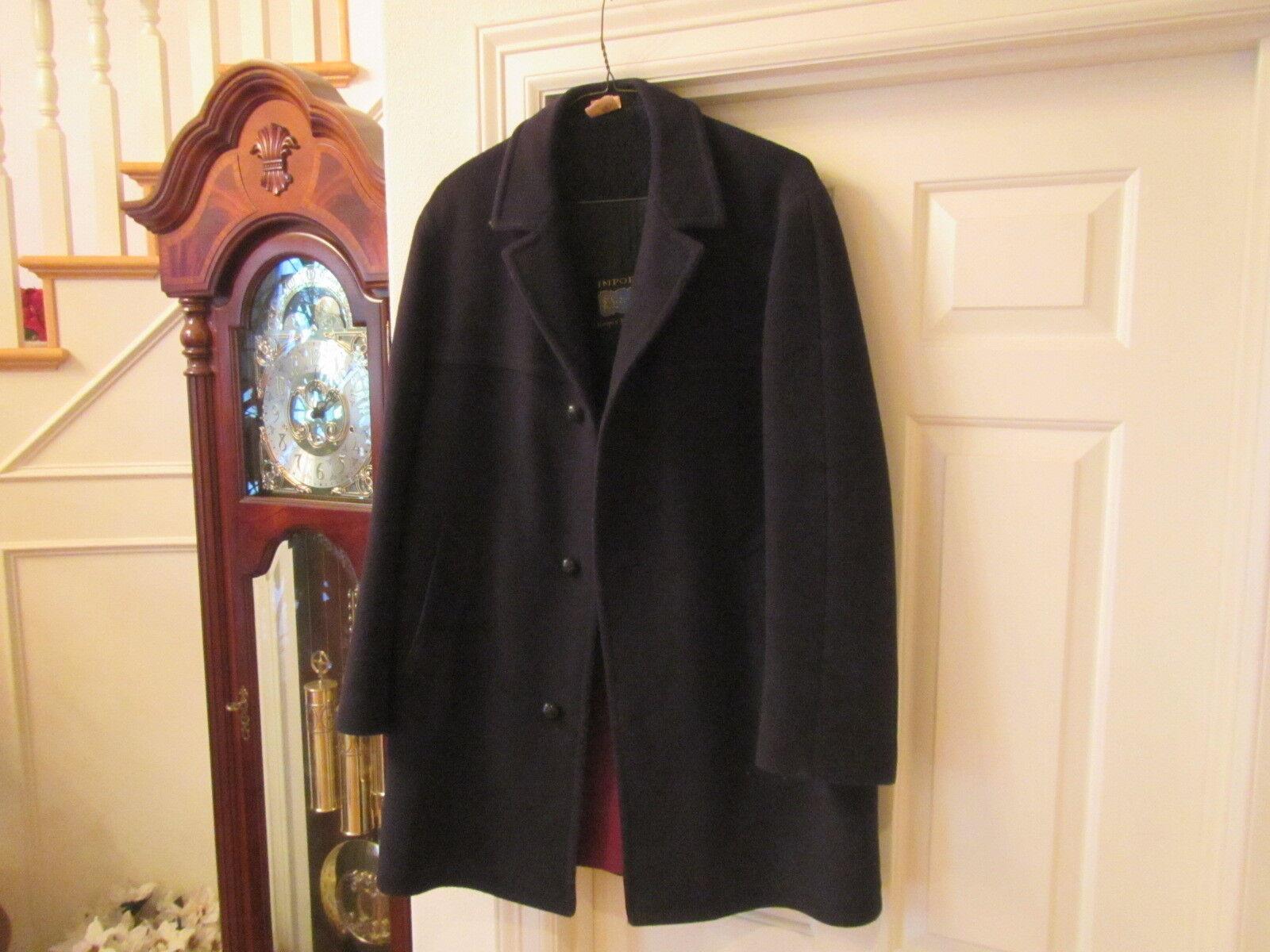 Vintage Wool Herren Dark Navy Loden Wool Vintage Coat Sz L XL Lodenfrey Made in Germany bf9216