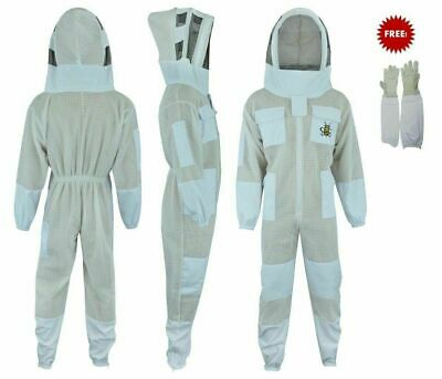 Bee Sting Safety 3 Layer UV beekeeping beekeeper jacket Fancy Veil 2XL