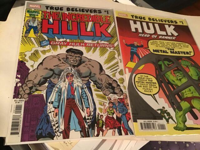 21 Pack Lot HULK Comics includes Hulk #6 True Believers
