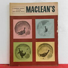 Maclean's Magazine Canadian General Attacks Our Defense Policy February 18 1956!