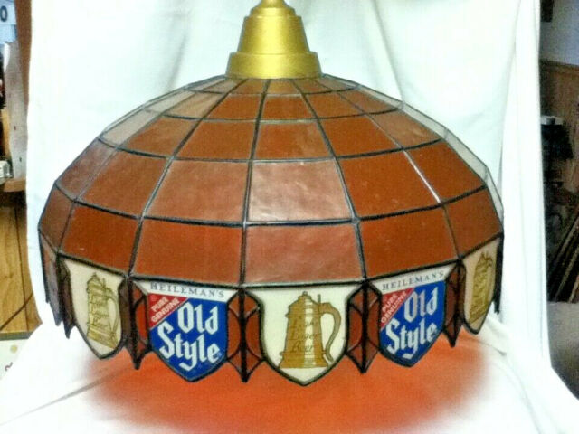 Old Style lager beer sign vintage hanging large pool table lighted bar light MB4