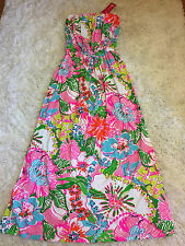 LILLY PULITZER LARGE NWT TARGET NOSEY POSEY MAXI DRESS PRETTY STRAPLESS FLORAL