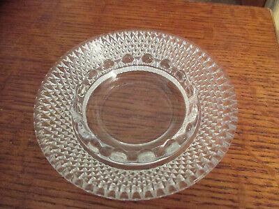 Vintage Mod Czech Cut Glass Crystal Ashtrays