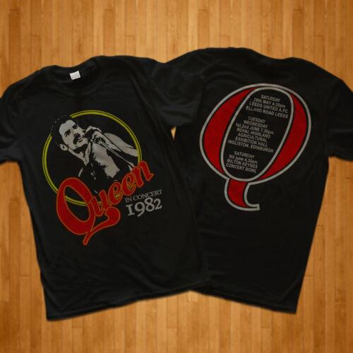 Vintage 1982 Queen tour t shirt gildan Freddie Mercury REPRINT RARE!