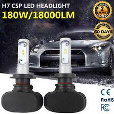 2Pcs Philips H7 180W 18000LM LED Headlight Kit Low Beam Bulbs High Power 6500K