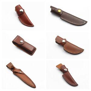 100-Genuine-Leather-Pouch-Folding-Pocket-Knife-Hunting-Belt-Sheath-Handmade
