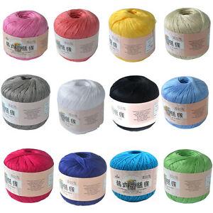 50g-Ball-Art-Silk-Thread-Yarn-Crochet-Hand-Knitting-Lace-Cotton-Crochet-Trim-DIY