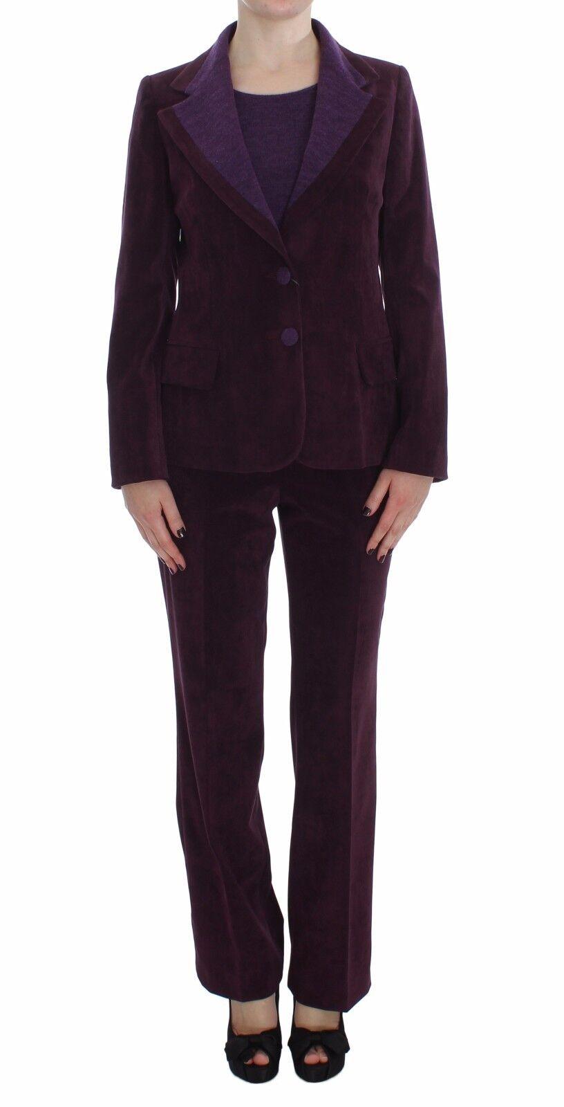 NEW BENCIVENGA Suit Blazer Pants Shirt Set Purple Wool s. IT42   US8   M