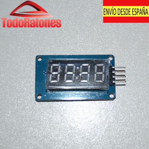 Arduino pantalla digital 4 dígitos elementos led números y letras robotica pi 3