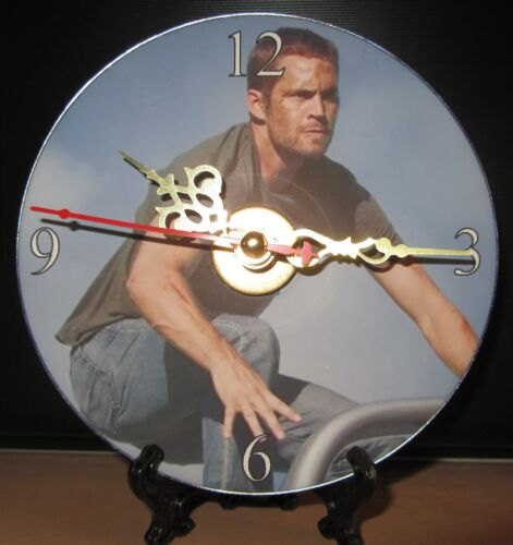 New Fast and the Furious Paul Walker CD Clock Action Movie Nice!!