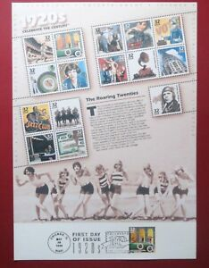 034-THE-ROARING-20-039-s-034-gt-First-Day-of-Issue-Mixed-UNUSED-U-S-Stamps-NEW-Condition