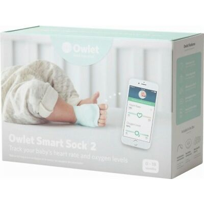 Owlet Smart Sock 2 Baby Heart Rate & Oxygen Level Health Monitor NEW in BOX