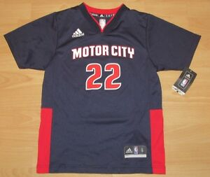 Details about Adidas Detroit Pistons Motor City Avery Bradley #22 Jersey Size Youth Small
