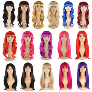 SEXY-Long-Curly-Fancy-Dress-Full-Wigs-Straight-Cosplay-Costume-Ladies-Wig-Party
