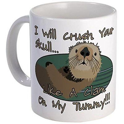 Printed Ceramic Coffee Tea Cup 11oz mug Ceramic Coffee mug Otter Skull Crush