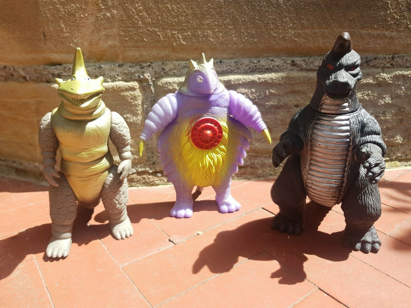 Ultraman Kaiju Collection of 3 Vinyl Figures 6 7 inches tall Vintage Bootlegs