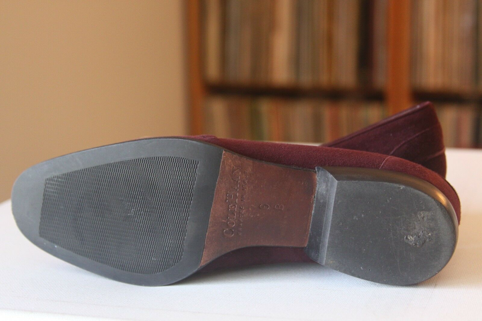 Cole Haan City D10970 Burgundy Suede Horse Bit Sz Loafers Sz Bit 6 B Made in  73f6f2