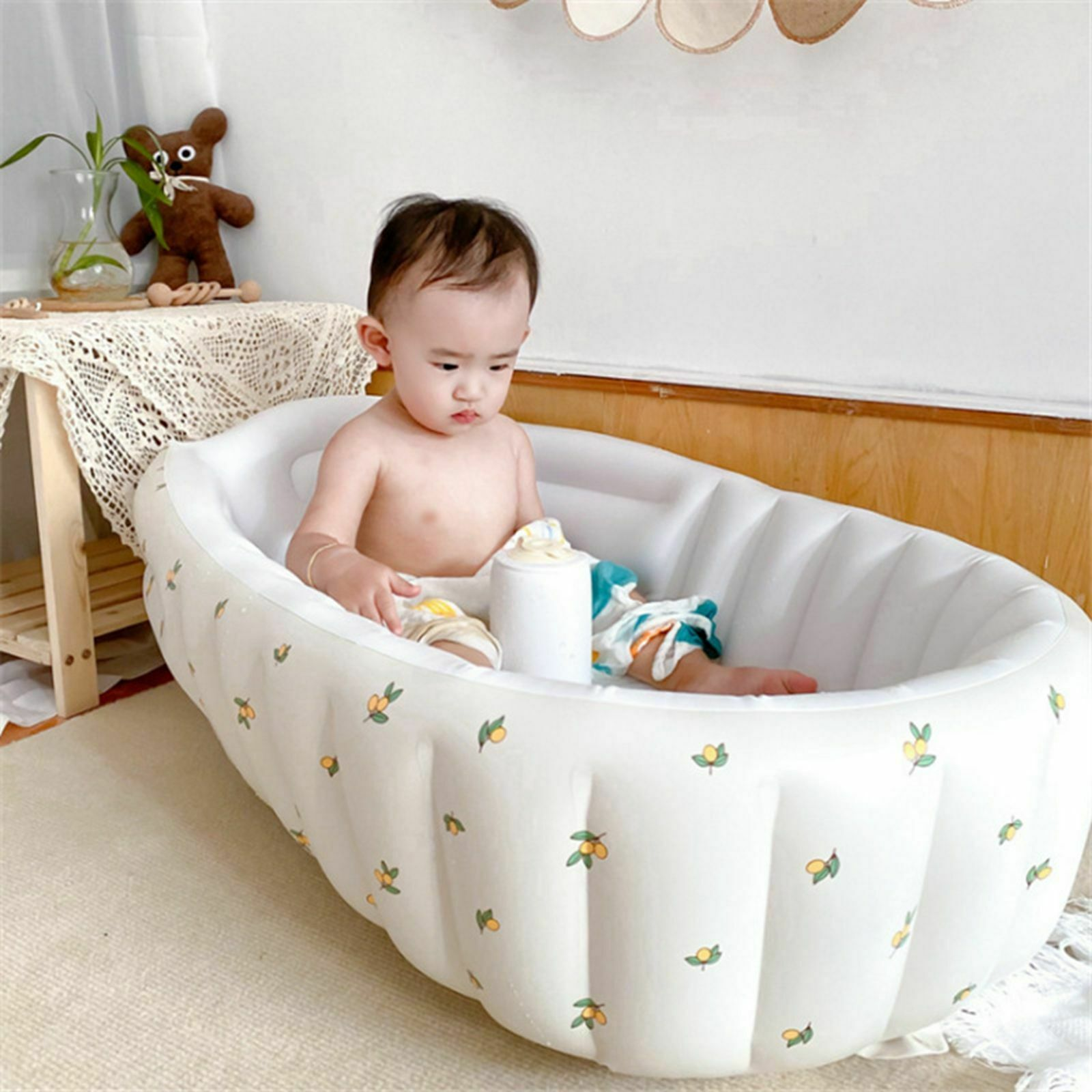 Inflatable Bathtub Anti-Slippery Support The Back Swimming Pool for Travel