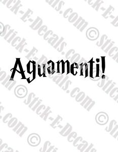 Details about Aguamenti! Harry Potter Decal Sticker- FREE USA SHIPPING