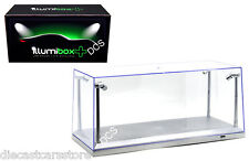 "ILLUMIBOX ACRYLIC DISPLAY SHOW CASE FOR 1/18 W / 15"" L.E.D SILVER  BASE 1/18"