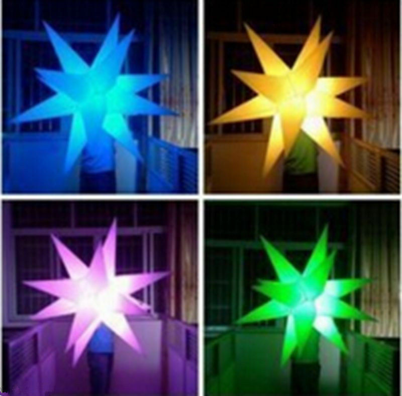 Inflatable Party Decoration Star with LED Changeable Light  and Blower A  wholesale price and reliable quality