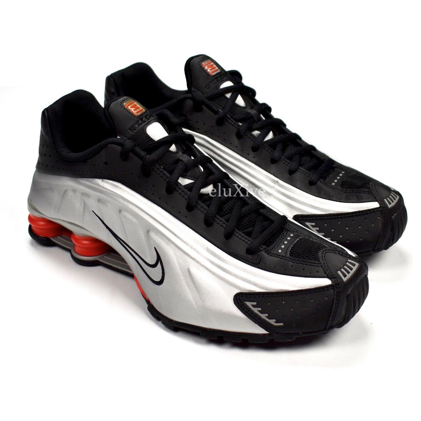 Nike Shox R4 hombres og plata de metalico, negro, naranja, zapatillas de plata deporte 10 DS 2018 auténtica liquidación de temporada dc0ecb