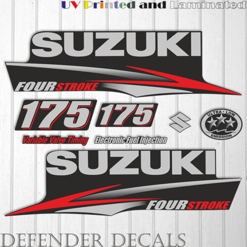 Suzuki 175 hp Four Stroke outboard engine decal sticker set kit reproduction