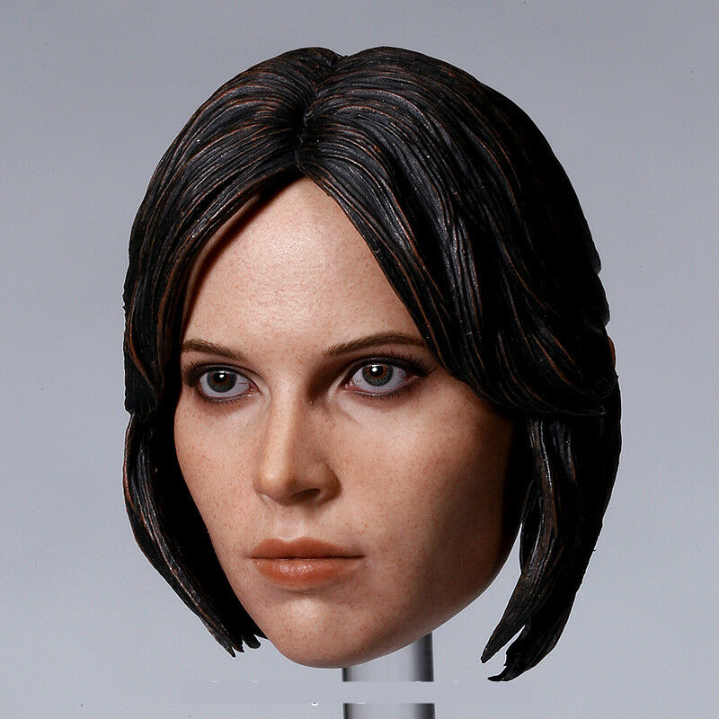 Jyn Erso 1 6 Scale Female Head Carving Fit 12  Action Figure Toys
