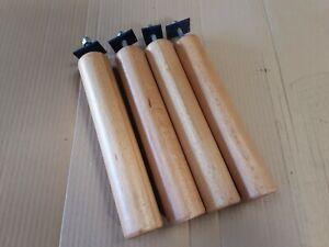 4 Pieds de lit Bois Hauteur 25 cm