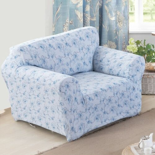 Sectional L Shape Sofa Cover Elastic Stretch Slipcover Flower Printed Slipcovers