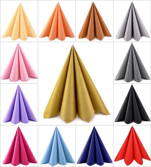 100 Stück Papierservietten in 3 Größen 25   33   40 cm Servietten 3-lagig falten