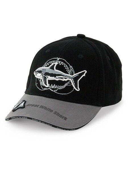 SPORTS Kappe Großer Weißer Hai Kiefer Knochen Schwarz Grau 57cm 983423 Farbige