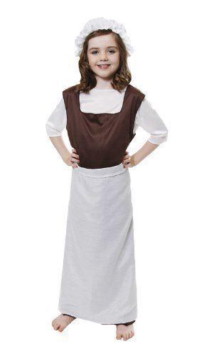 Childs Enfants Tudor Victorien Pauvre Fille Costume