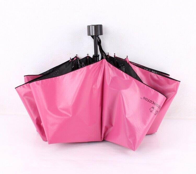 Compact Folding Umbrella Starry Travel Anti-UV Sunproof Rain Umbrella SPF 50+