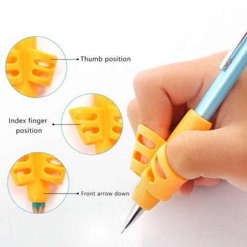 3pcs Kids Writing Pencil Holder Learning Pen Aid Grip Posture Correction Kits