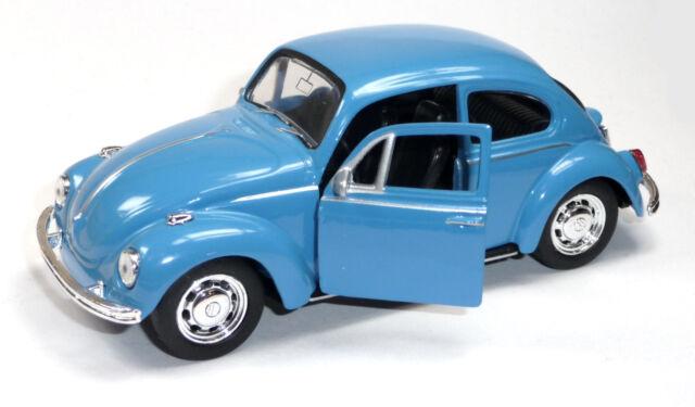 günstig: VW Käfer (1960) Modellauto 1:34 Metall Spritzguss 12cm blau von WELLY