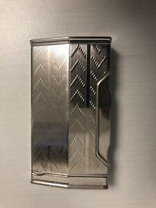 Nachlass RaritÄt Original Caran D'ache Luxus Feuerzeug Piezo ZÜndung Silber Nw