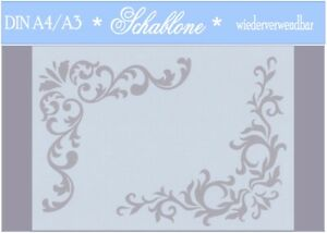 Schablone-Vintage-Shabby-A4-A3-Ecke-Ornament-7080