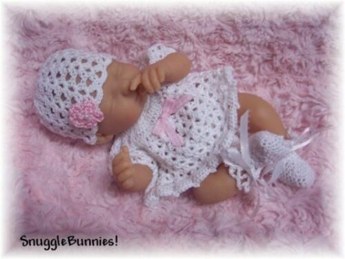 "SnuggleBunnies DRESS FITS 9.5-10/"" REBORN OOAK BABY !"